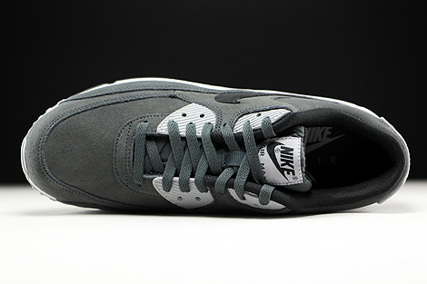 Nike Air Max 90 Leather Anthracite Black Wolf Grey White Over view