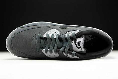 Nike Air Max 90 Leather Dunkelgrau Grau Schwarz Weiss Oberschuh