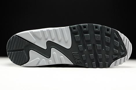 Nike Air Max 90 Leather Dunkelgrau Grau Schwarz Weiss Laufsohle