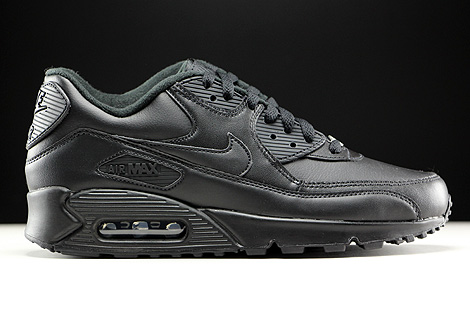 Nike Air Max 90 Leather Black Right