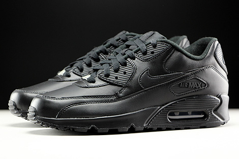 Nike Air Max 90 Leather Black Profile