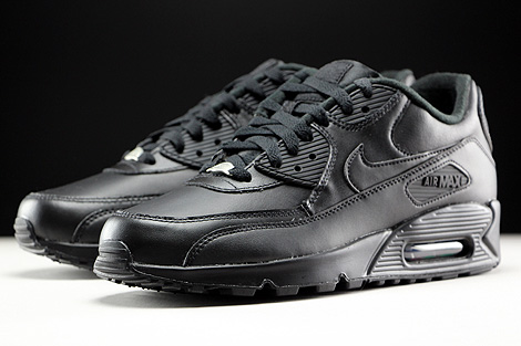 Nike Air Max 90 Leather Black Sidedetails