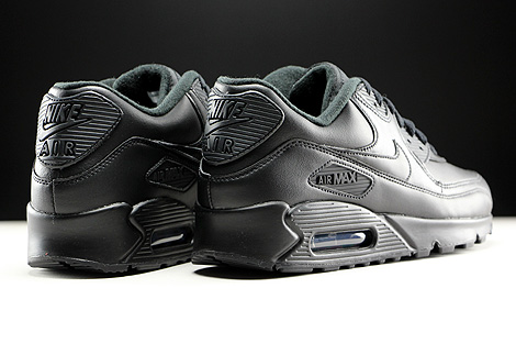 Nike Air Max 90 Leather Black Back view
