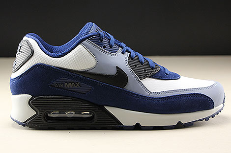 Nike Air Max 90 Leather Blue Void Black Ashen Slate Right