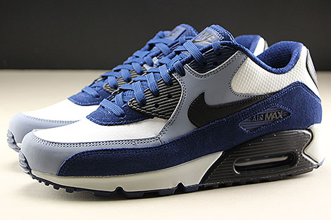 Nike Air Max 90 Leather Blue Void Black Ashen Slate Seitenansicht
