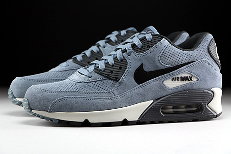 Nike Air Max 90 Leather Premium Blue Graphite Black Anthracite Profile