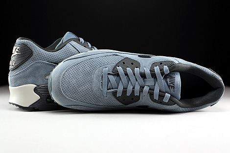 Nike Air Max 90 Leather Premium Blue Graphite Black Anthracite Over view