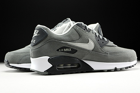 Nike Air Max 90 Leather Tumbled Grey Night Silver Black White Inside