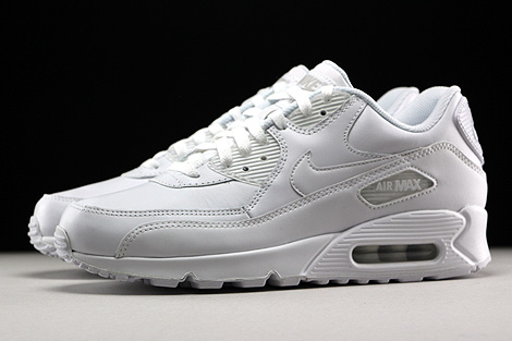 Nike Air Max 90 Leather White Profile