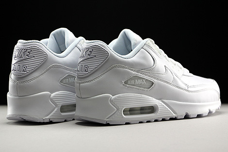 Nike Air Max 90 Leather White Back view