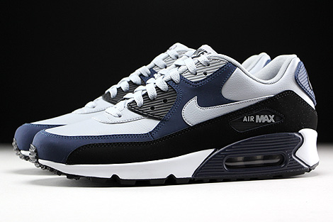 nike air max 90 navy blue and grey