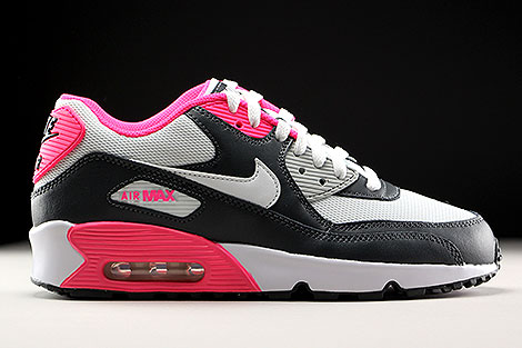 Nike Air Max 90 Mesh GS Anthracite White Hyper Pink Right