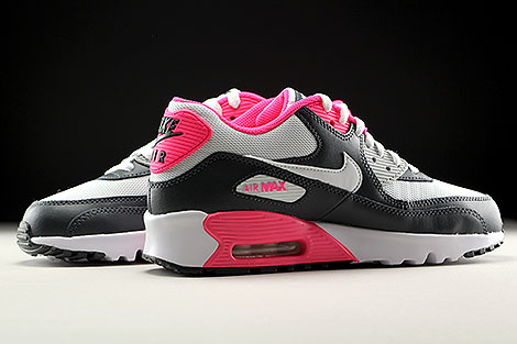 Nike Air Max 90 Mesh GS Anthrazit Weiss Pink Innenseite