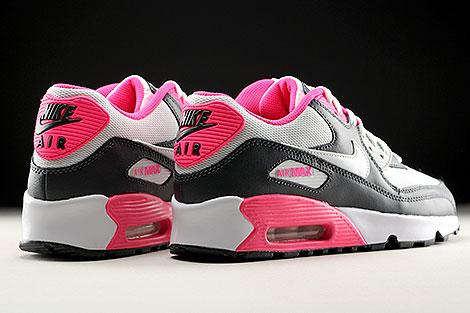 Nike Air Max 90 Mesh GS Anthrazit Weiss Pink Rueckansicht