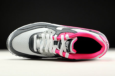 Nike Air Max 90 Mesh GS Anthrazit Weiss Pink Oberschuh