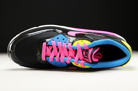 Nike Air Max 90 Mesh GS Schwarz Pink Weiss Blau Oberschuh