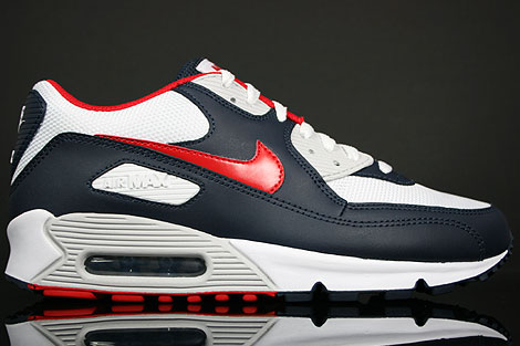 Nike Air Max 90 Obsidian Sport Red White Grey