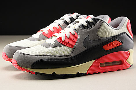Nike Air Max 90 OG Sail Cool Grey Medium Grey Infrared Profile