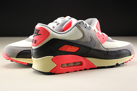 Nike Air Max 90 OG Sail Cool Grey Medium Grey Infrared Inside