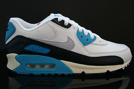 Nike Air Max 90 OG Sail Neutral Grey Laser Blue Black Right