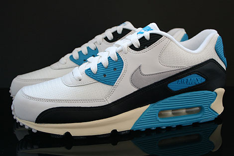 Nike Air Max 90 OG Sail Neutral Grey Laser Blue Black Profile
