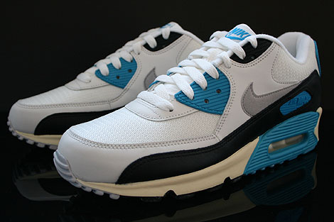 Nike Air Max 90 OG Sail Neutral Grey Laser Blue Black Sidedetails