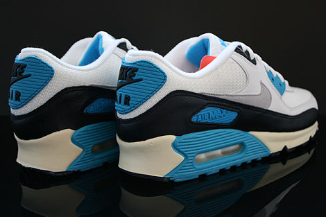 Nike Air Max 90 OG Sail Neutral Grey Laser Blue Black Back view