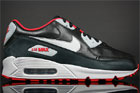 Nike Air Max 90 Premium Black Silver Sport Red