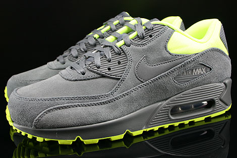 nike air max 90 dark grey volt