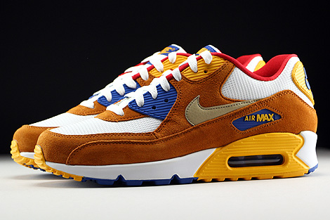... Nike Air Max 90 Premium White Metallic Gold Green Tawny Game Royal Profile ...