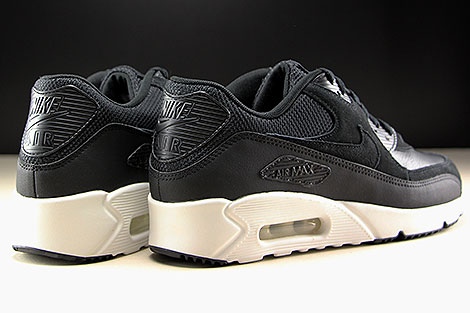 Nike Air Max 90 Ultra 2.0 LTR Black Summit White Back view