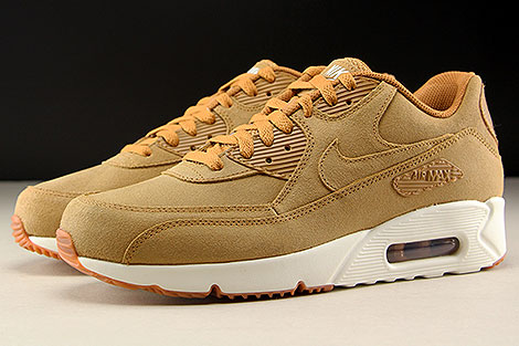 Nike Air Max 90 Ultra 2.0 LTR Flax Sail Gum Medium Brown Profile