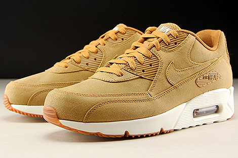 Nike Air Max 90 Ultra 2.0 LTR Flax Sail Gum Medium Brown Sidedetails