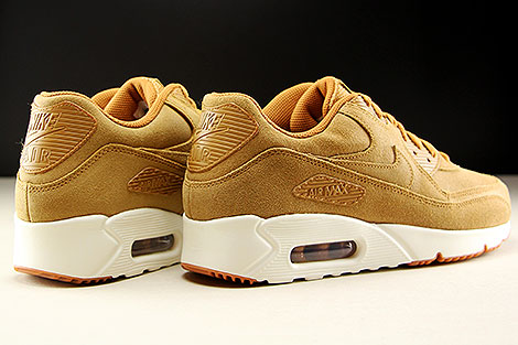 Nike Air Max 90 Ultra 2.0 LTR Flax Sail Gum Medium Brown Back view