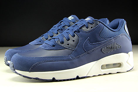 Nike Air Max 90 Ultra 2.0 LTR Midnight Navy White Profile