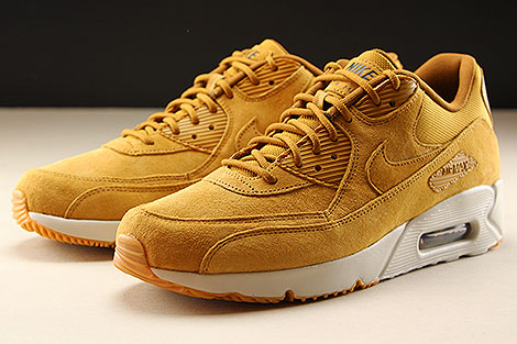 Nike Air Max 90 Ultra 2.0 LTR Wheat Wheat Light Bone Seitendetail