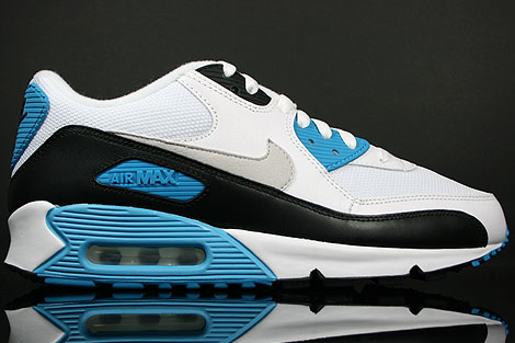 Nike Air Max 90 White Black Zen Grey Laser Blue