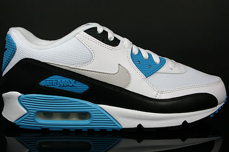 Womens Nike Air Max 90 White Laser Pink Ice Blue