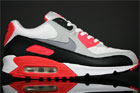 Nike Air Max 90 Weiss Grau Infrarot Schwarz