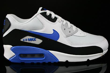 Nike Air Max 90 Essential Weiss Blau Schwarz 537384 115