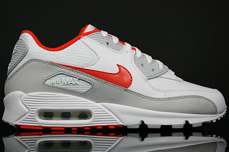 Nike Air Max 90 White Team Orange Neutral Grey