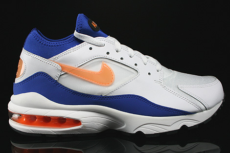 Nike Air Max 93 White Bright Citrus Hyper Blue Black Right