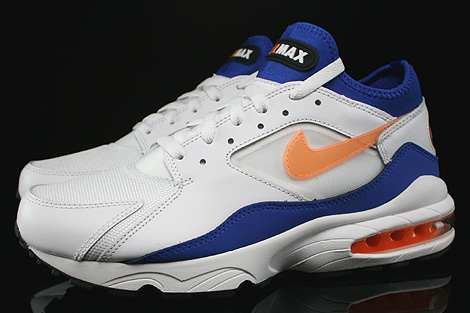 Nike Air Max 93 White Bright Citrus Hyper Blue Black Profile