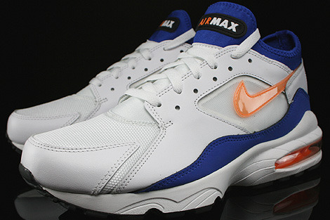 Nike Air Max 93 White Bright Citrus Hyper Blue Black Sidedetails