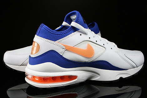 Nike Air Max 93 White Bright Citrus Hyper Blue Black Inside