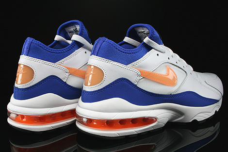 Nike Air Max 93 White Bright Citrus Hyper Blue Black Back view