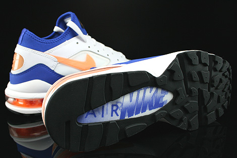 Nike Air Max 93 White Bright Citrus Hyper Blue Black Outsole