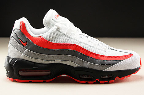 Nike Air Max 95 Essential White Bright Crimson Black Pure Platinum Rechts