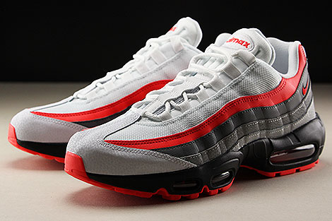 Nike Air Max 95 Essential White Bright Crimson Black Pure Platinum Seitendetail