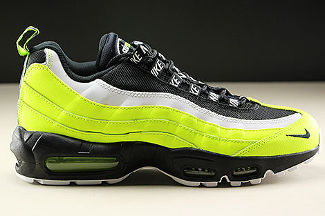 Nike Air Max 95 Premium Volt Black Volt Glow Barely Volt Right